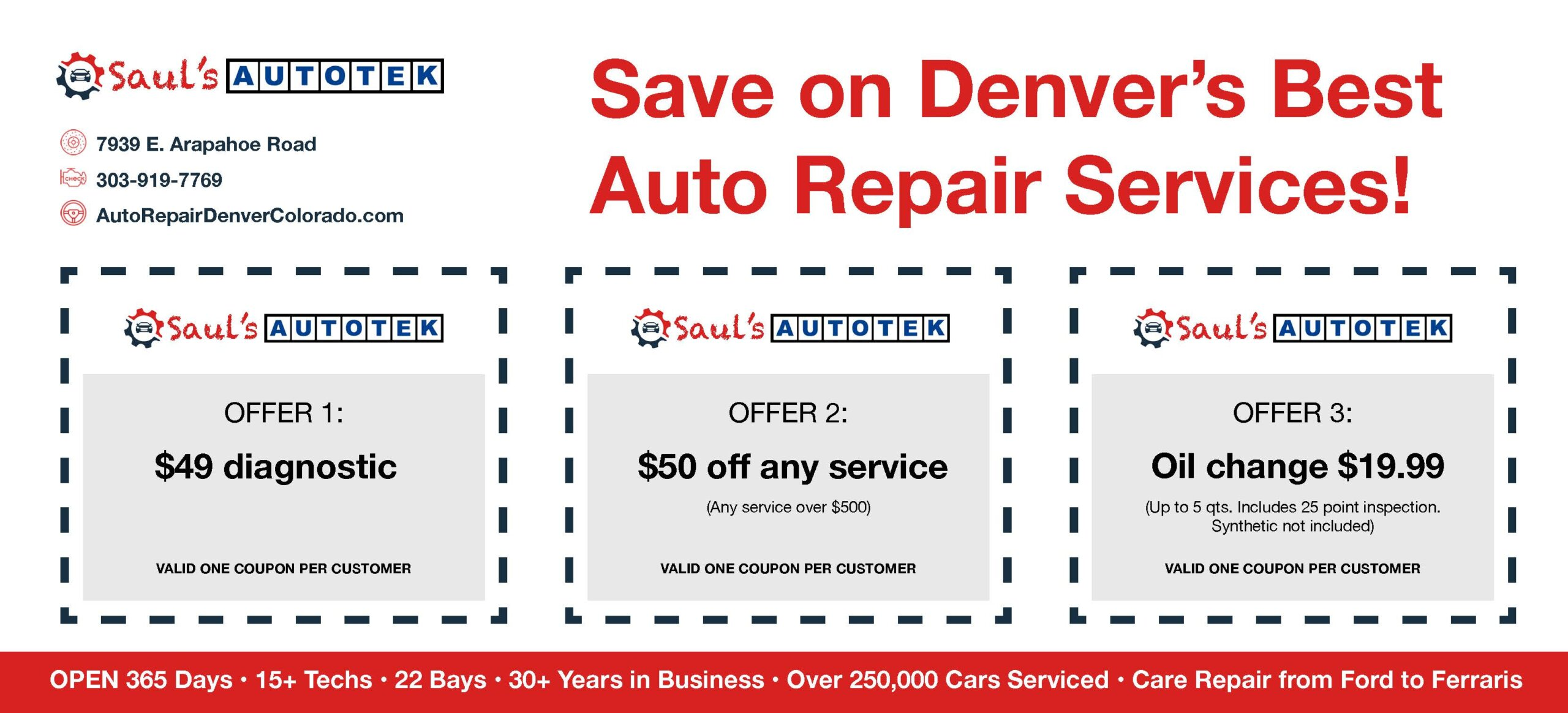 Coupons Auto Repeair Services